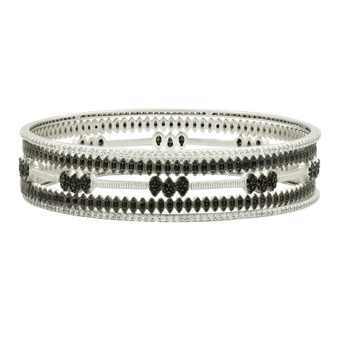 Two-tone Slide On 5-Stack Bangles
