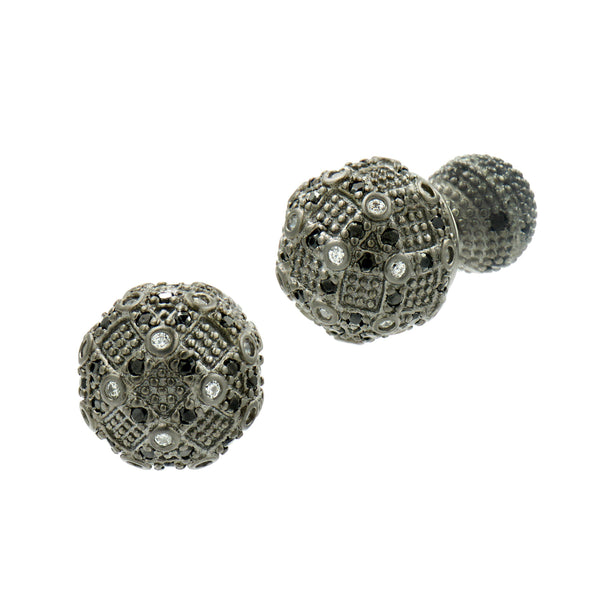 Industrial Finish Double Sided Back Stud Earrings