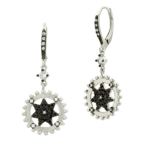 Pavé Starburst Dangle Earring