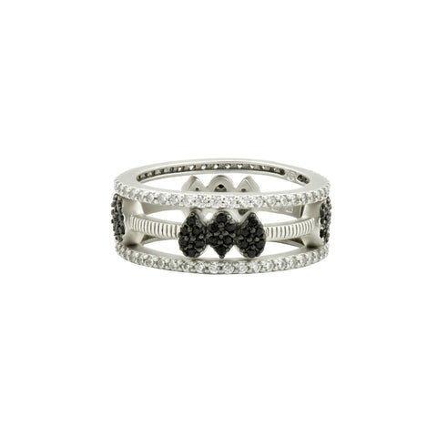 Pavé Teardrop 3-Stack Ring