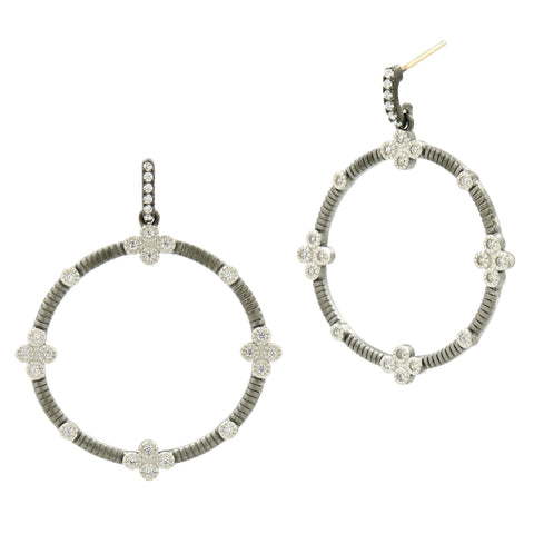 Signature 4 Point Open Hoops Drops - FREIDA ROTHMAN