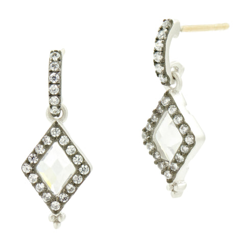 Industrial Finish Diamond Shape Drops - FREIDA ROTHMAN