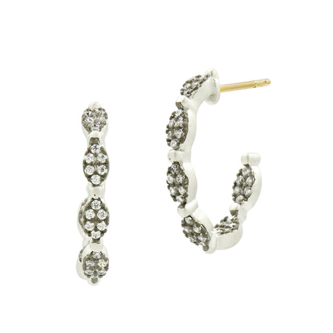 Industrial Finish Allover Pavé Hoops