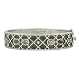 Bold Criss Cross Wide Hinge Bangle