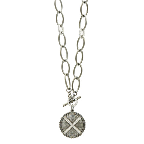 Industrial Finish Toggle Pendant Necklace - FREIDA ROTHMAN