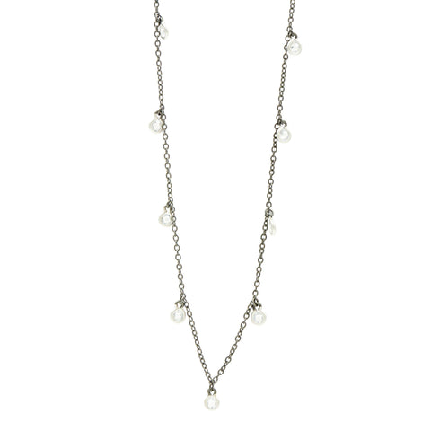 Industrial Finish Bezel Droplet Long Chain - FREIDA ROTHMAN
