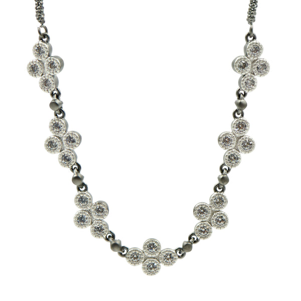Industrial Finish 4 Points Short Chain Necklace - FREIDA ROTHMAN