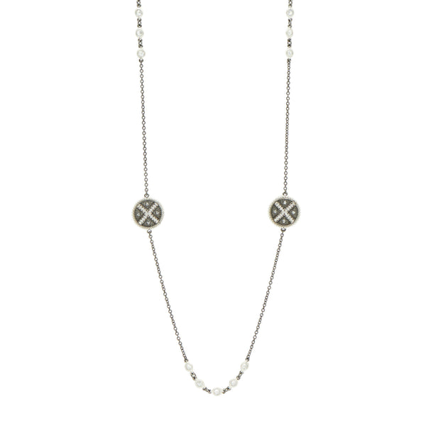 Industrial Finish Long Station Necklace - FREIDA ROTHMAN
