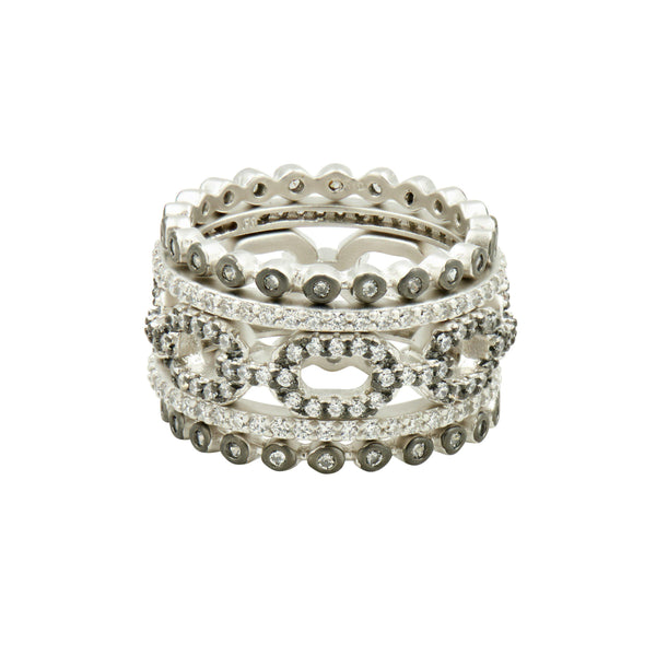 Industrial Finish 5 Stack Ring - FREIDA ROTHMAN