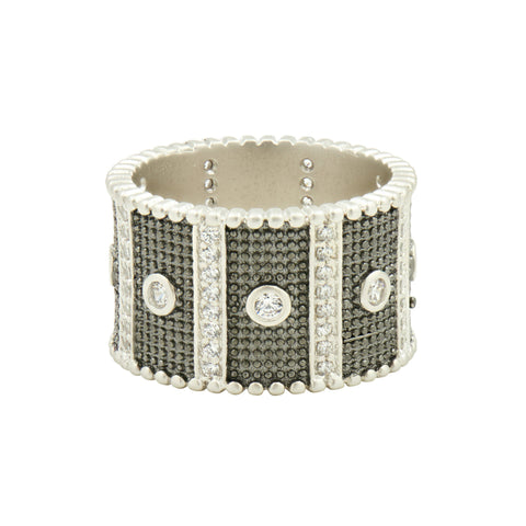 Industrial Finish Wide Band Ring - FREIDA ROTHMAN