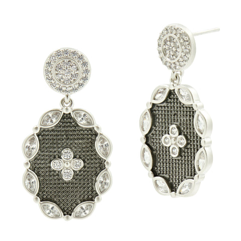 Industrial Finish Drop Earrings - FREIDA ROTHMAN