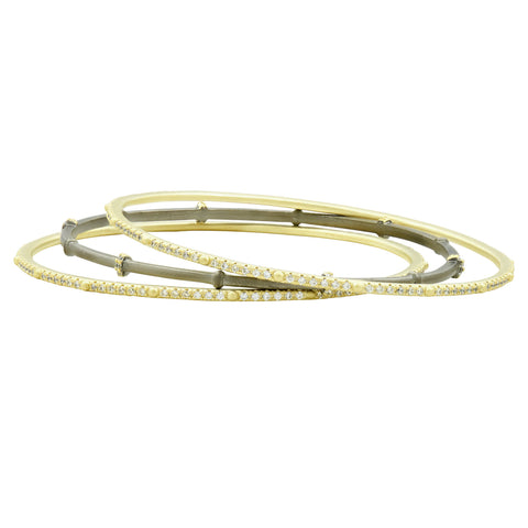 Imperial Pavé 3-Stack Bangles
