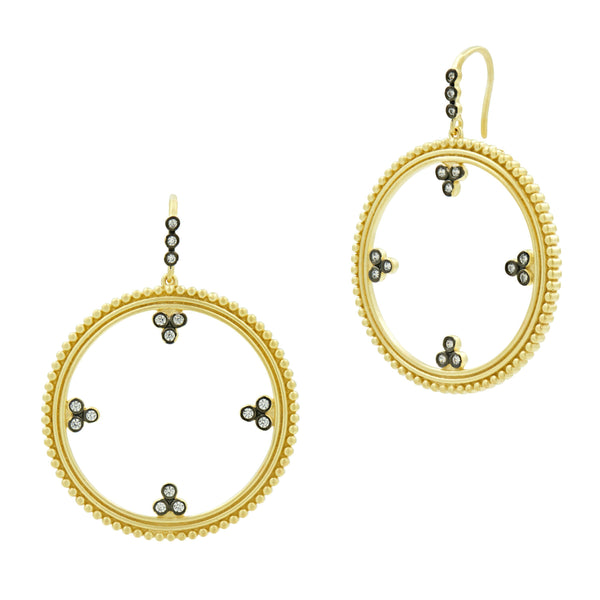 Hoop Earrings - 3 Point