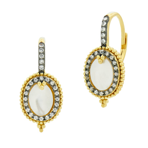 Imperial Mother of Pearl Leverback Earrings