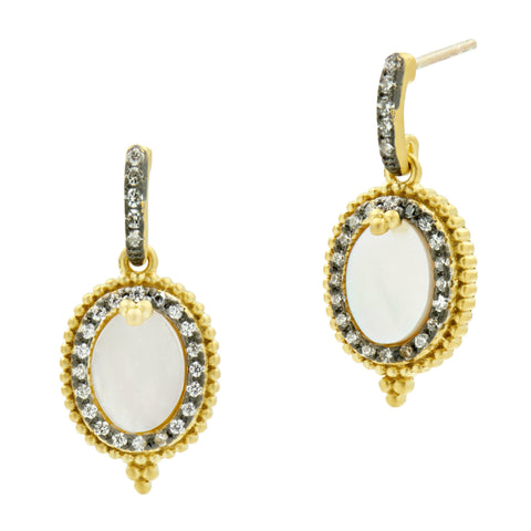 Imperial Oval Mother of Pearl Mini Drop Earrings
