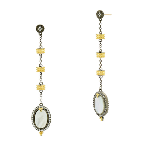 Imperial Mother of Pearl Linear Drop Earrings
