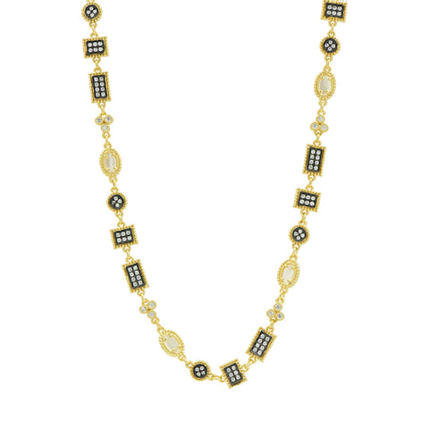 Imperial Pavé and Mother of Pearl Necklace