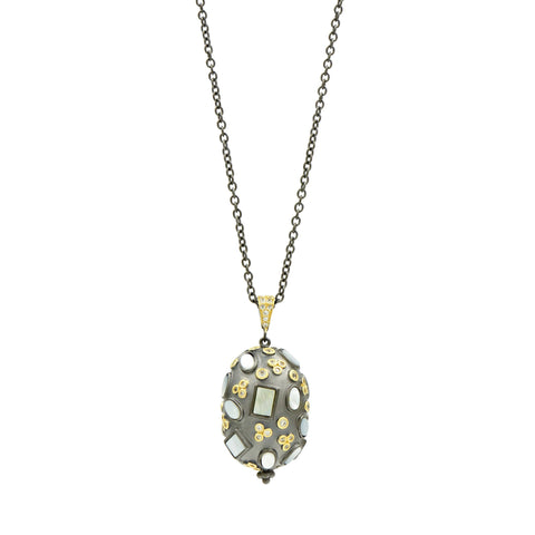 Multi Stone Pendant Necklace imperial collection solo shot