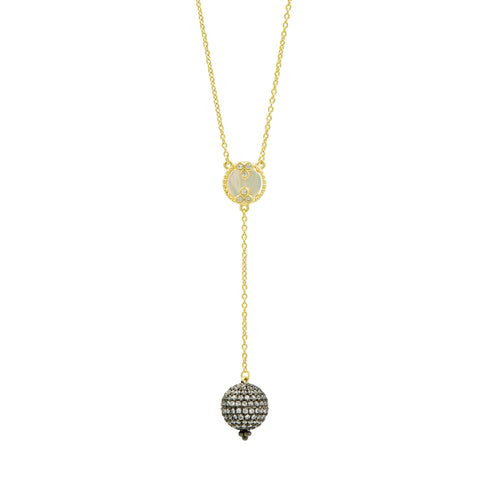 Imperial Pavé Ball Y Necklace