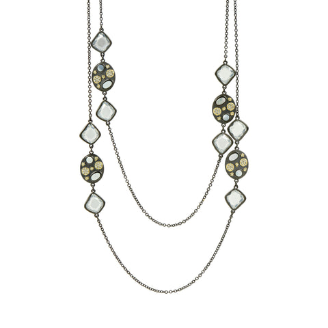 Imperial Multi-stone Long Strand Station Necklace