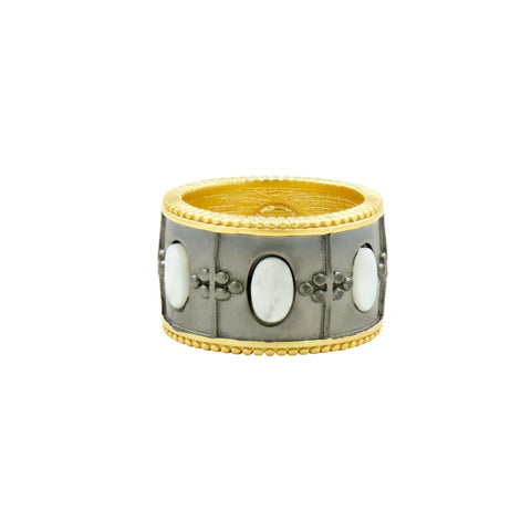 Imperial Mother of Pearl Wide Band Ring