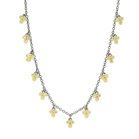 Imperial 3-Point Charm Short Chain Necklace