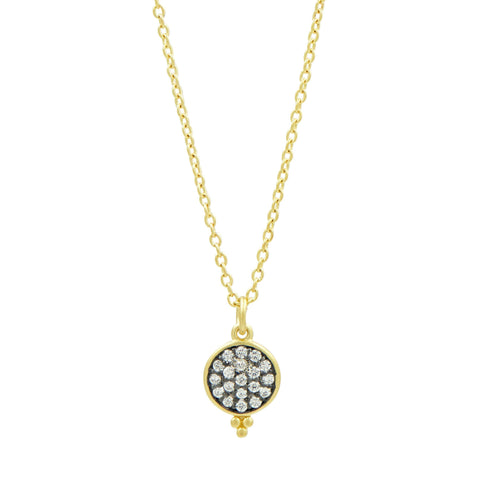Imperial Pavé Bindi Disc Pendant Necklace