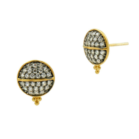 Lattice Motif Studs Earrings - FREIDA ROTHMAN