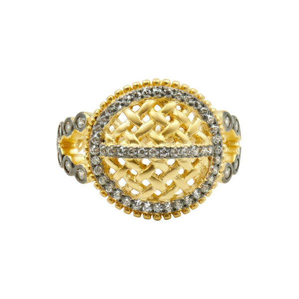 Textured Ornaments Cocktail Ring - FREIDA ROTHMAN