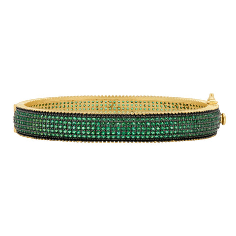 Midnight Emerald Pavé Bangle