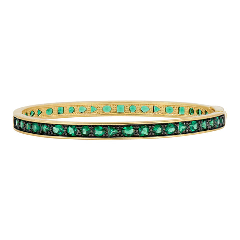 Midnight Emerald Hinge Bangle
