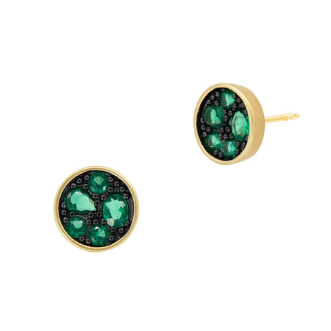 Midnight Emerald Studs