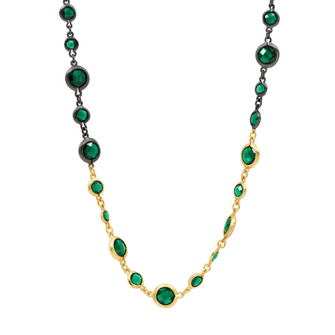 Midnight Emerald Long Necklace