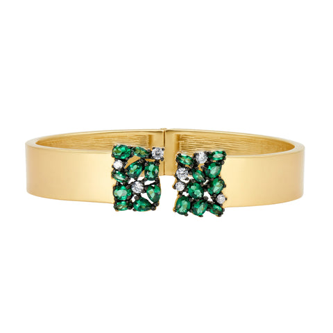 Midnight Emerald Cluster Cuff