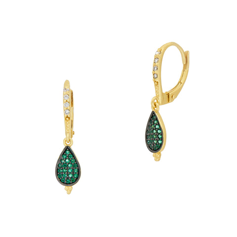 Midnight Small Teardrop Earring