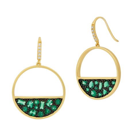 Midnight Open Hoop Earring