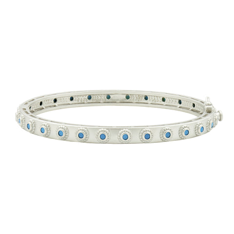 Single Tone Studded Eternity Hinge Bangle
