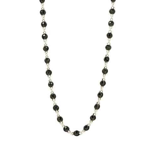 Industria Finish Bezel Stone Necklace