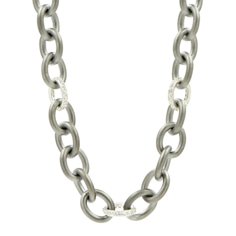 Alternating Link Toggle Chain Necklace