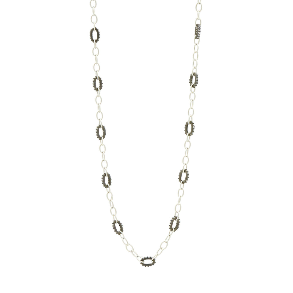 Deco Alternating Chain Link Necklace