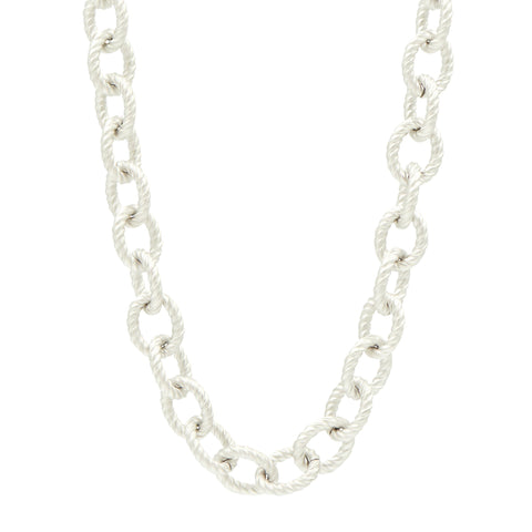 Two Tone Toggle Chain Necklace - FREIDA ROTHMAN