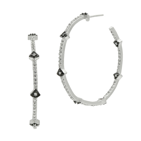 Signature Arrow Station Hoop Earrings - FREIDA ROTHMAN