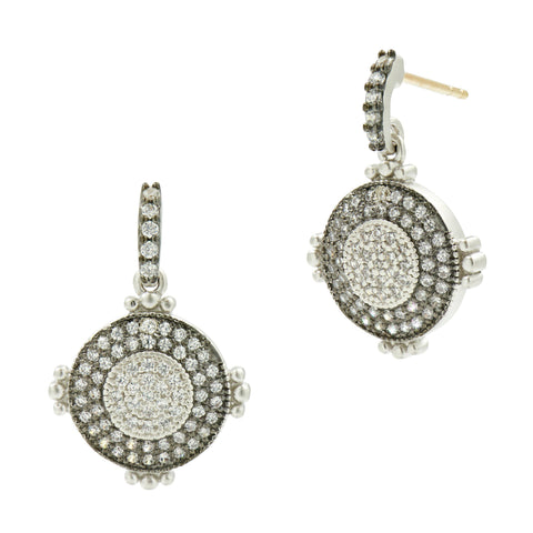 Signature Pav̩ Disc Drop Earring - FREIDA ROTHMAN