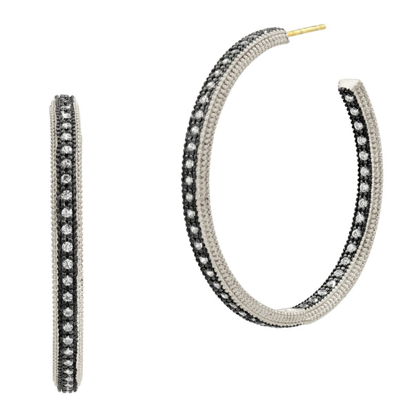 Classic Pave Hoop Earrings