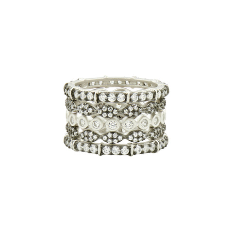 Classic Mixed 5-Stack Ring