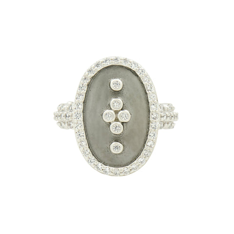 Signature Clover Shield Cocktail Ring - FREIDA ROTHMAN