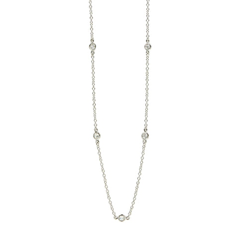 Signature Diamond by the Yard Long Chain Necklace - FREIDA ROTHMAN