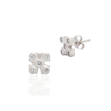 Maltese Stud Earrings