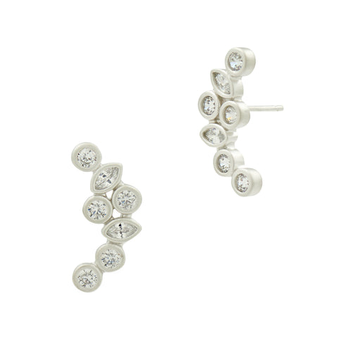 Geo Stone Radiance Climber Earrings - FREIDA ROTHMAN