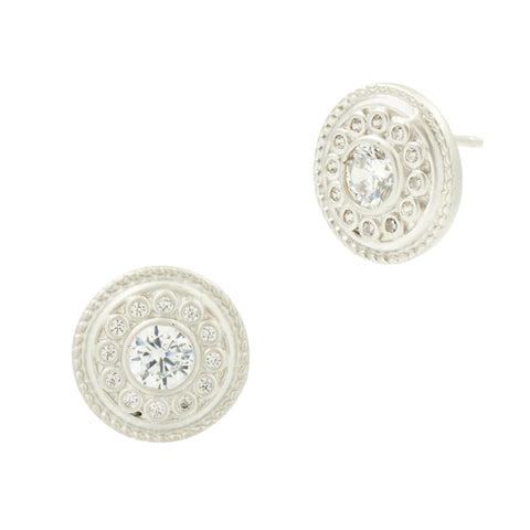 Nautical Buttton Stud Earrings - FREIDA ROTHMAN